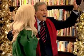 commercial lady gaga barnes and noble lady gaga tony bennett meet cute and cold in barnes noble