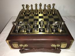 beautiful chess sets beautiful chess set in gold and silver in luxury leather case