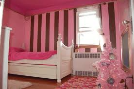 Pink And White Striped Rug Bay Window Bedroom Furniture Simple White Acrylic Chair Plain