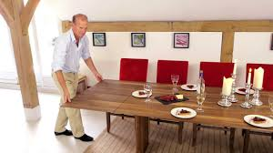 dining room table slides walnut extending table youtube