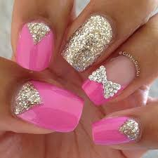 pink nail art ideas for young girls stylishmods com