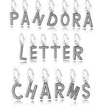 pandora letter charms ebay