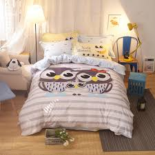 100 cotton rainbow owl bedding set