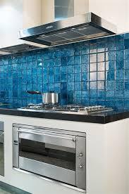 blue backsplash tile for kitchens blue glass tile backsplash