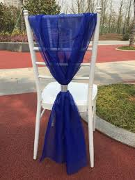 blue chair sashes bamboo white blue chair sash chair decoration for wedding home