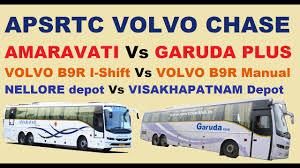 apsrtc garuda plus vs amaravati volvo buses chasing youtube