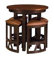 granite top round pub table lacrosse dining table from dutchcrafters amish furniture for bar and
