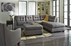 Grey Tufted Sofa by Chair U0026 Sofa Have An Interesting Living Room With Ashley
