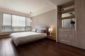 bedrooms with solid wooden floors and wood closet plus