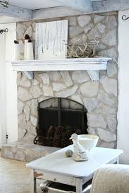 diy fireplace makeover pinterest brick kits lowes cleaned firebox