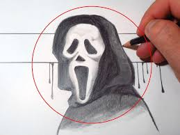 how to draw scream mask ghostface youtube