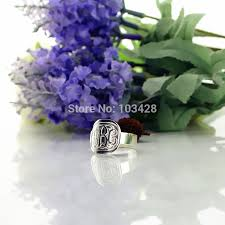 Monogrammed Silver Ring Online Get Cheap Mens Monogrammed Silver Rings Aliexpress Com