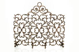 florentine four panel screen with arch ornamental designs