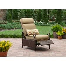 Outdoor Deck Furniture by Better Homes And Gardens Riverwood Recliner Tan Walmart Com