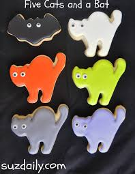 cute cat cookies for halloween suz daily