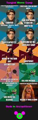 Tangled Meme - funny disney memes tangled meme comp judgmental disney nerd