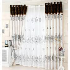 grey patterned curtains with reactive print no valance