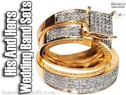 Gold Wedding Ring Sets by His And Hers Wedding Band Sets Wedding Bands Sets Plain Gold