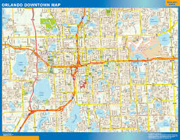 Map Of Orlando by Orlando Downtown Map Netmaps Usa Wall Maps Shop Online