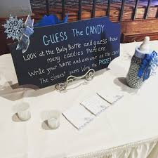 baby it s cold outside baby shower table guess how many for the baby it s cold outside baby