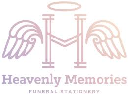 Funeral Stationery Heavenly Memories High Quality Bespoke Funeral Stationery
