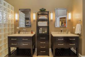 Glass Block Bathroom Ideas by Circa Lighting Sconces Circalighting Brown Cabinet And Cupboard