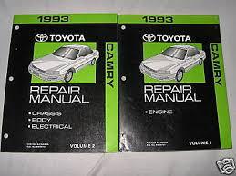 1993 toyota camry repair manual 1993 toyota camry service manual shop repair factory set ebay