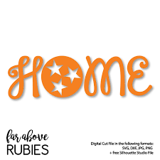 Tennessee Vols Home Decor Home Tennessee Tri Star Svg Dxf Png Jpg Digital Cut File