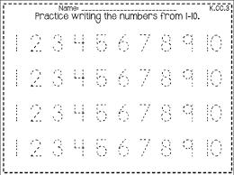 number writing worksheets 1 10 worksheets