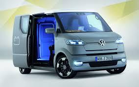 volkswagen van front view volkswagen unveils electric semi autonomous et delivery van