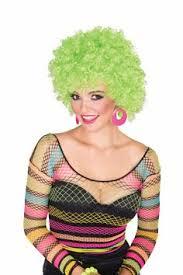 Halloween Disco Costumes Glitter Afro Halloween Disco Costume Wig Orange Disco