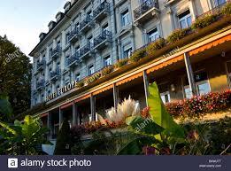 grand hotel europe luzern switzerland stock photo royalty free