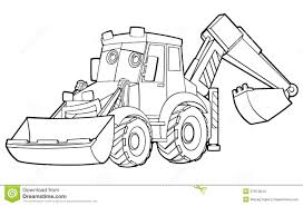 car coloring page illustration for the children stock images