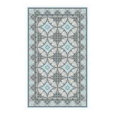 Pale Blue Rug Beija Flor Barcelona Vinyl Floor Mat Pale Blue Times