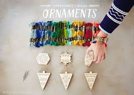 make your own embroidery and wood ornaments think make