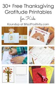 30 free thanksgiving gratitude printables for bits of positivity