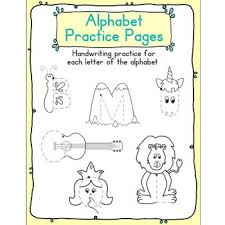 practice alphabet alphabet handwriting practice pages abc writing tracing by