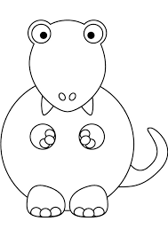 baby tyrannosaurus coloring pages kids