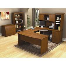 Bestar U Shaped Desk Ash Desk Contemporary Commercial With Storage Tremblant