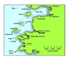 Ireland On Map Galway To Clare Island Irish Sailingirish Sailing