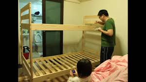 Ikea Wooden Loft Bed Instructions by Ikea Mydal Youtube