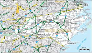 atlas road map carolina map