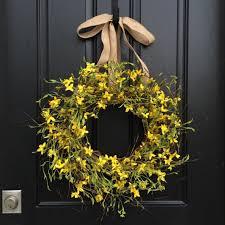 springtime wreaths yellow forsythia wreaths front door wreaths springtime