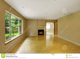 empty living room with shiny marble tile floor stock photo image