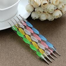 lowest price nail art tool steel dotting marbleizing pen nail art