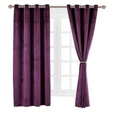 Burgundy Velvet Curtains Solid Matt Heavy Velvet Curtain Drape Panel Blackout Soft