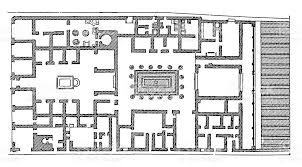 floor plan of roman house in pompeii stock vector art 180753963