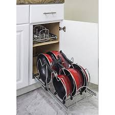 how to organize pots and pans in a cupboard how to organize pots and pans organization storage ideas