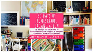 how to organize your small homeschool space