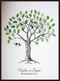 wedding tree large personalised wedding fingerprint thumbprint tree